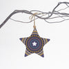 Purple star Christmas tree decoration