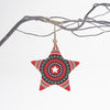 Red star Christmas tree decoration