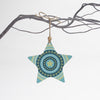 Turquoise star Christmas tree decoration