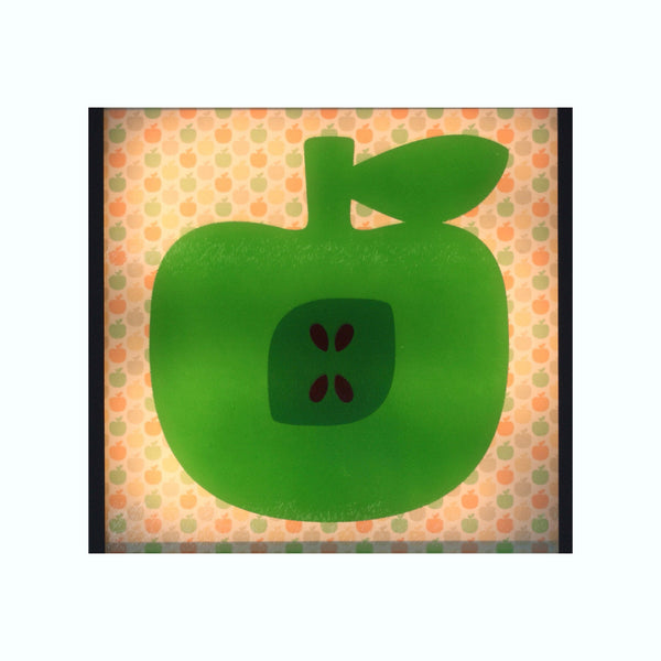 Green apple lightbox glass insert