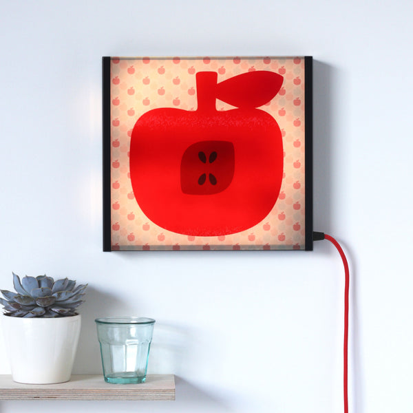 Red Apple LED lightbox