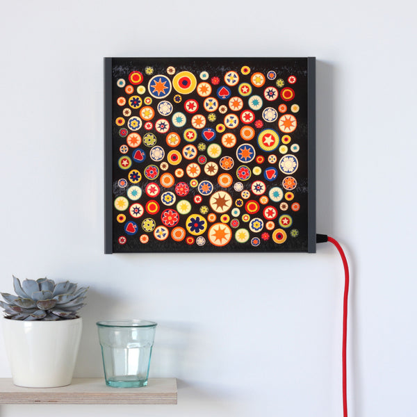 Black Millefiori LED lightbox