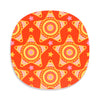 Orange star design Christmas placemat