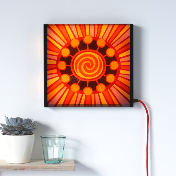 Sunburst LED lightbox