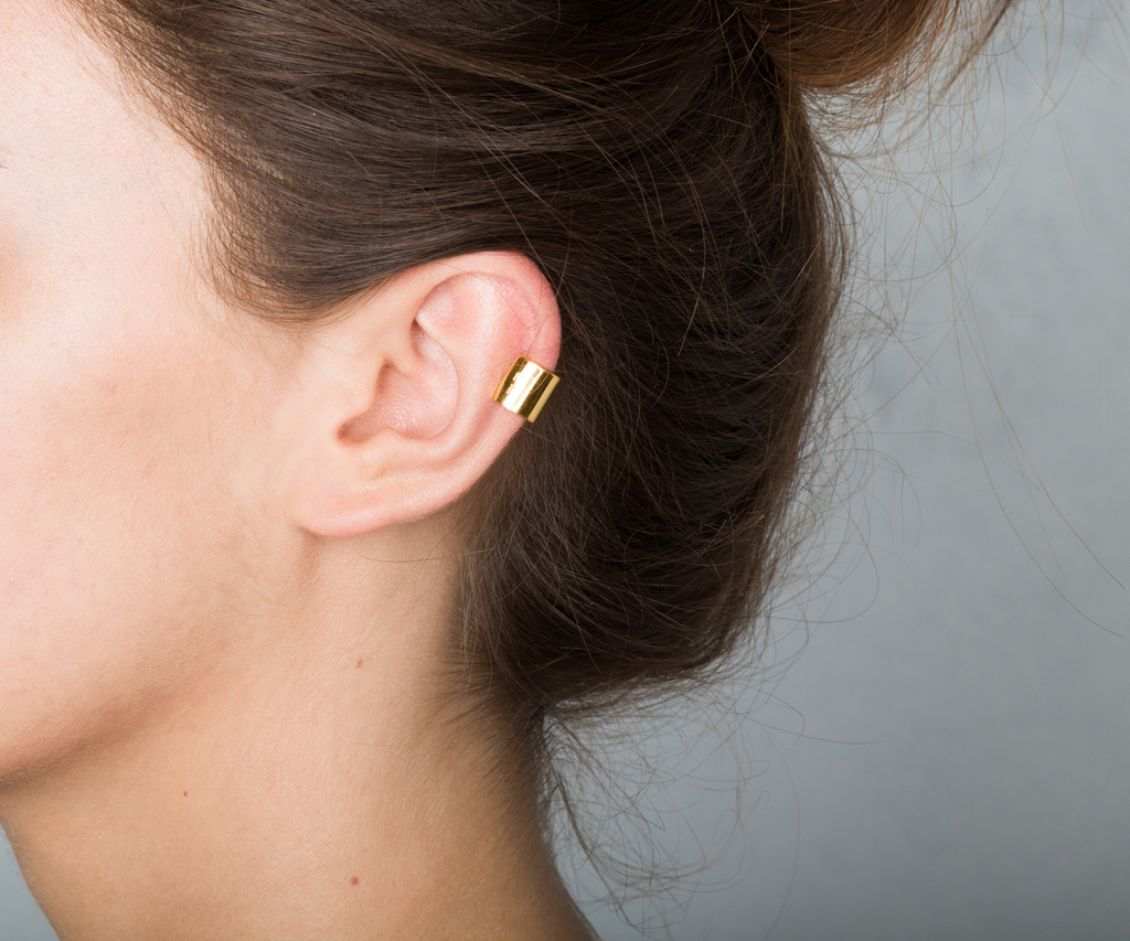 little ear cuff gold earring Maya Magal jewellery London