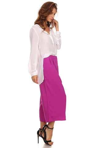 Wide Leg Culottes Pants-1