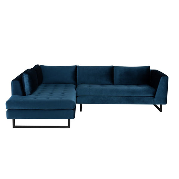 June Sectional Midnight Blue