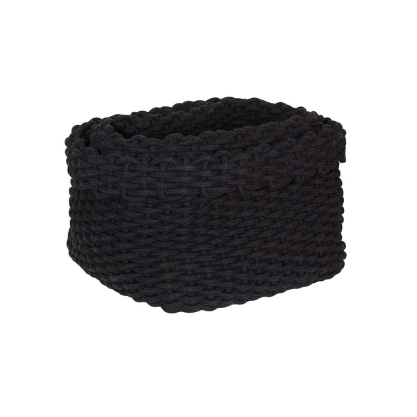 Raffa Cotton Basket/ Black