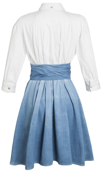Ethical Fashion by Outsider. Sustainable Fashion using Natural Fabrics - Shirt Dress made from Organic Cotton2 Blue White