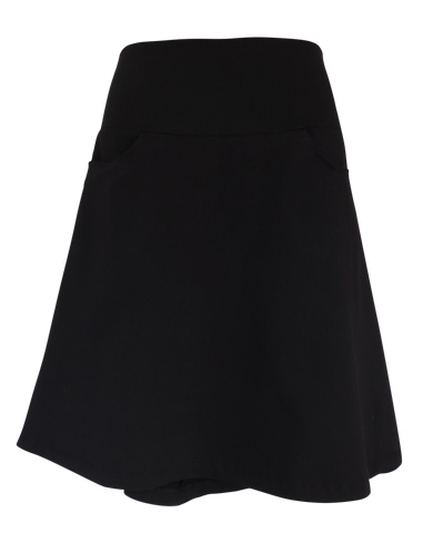 STRETCH SUITING ALINE SKIRT - Black