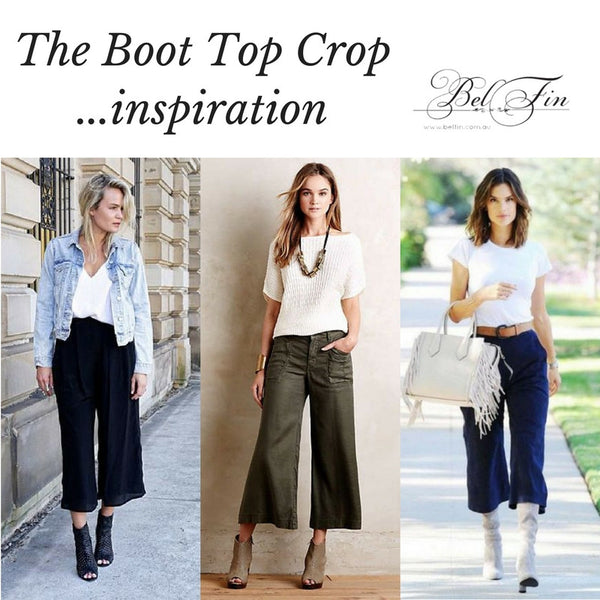 BOOT TOP CROP - ANTIQUE WASH BLACK