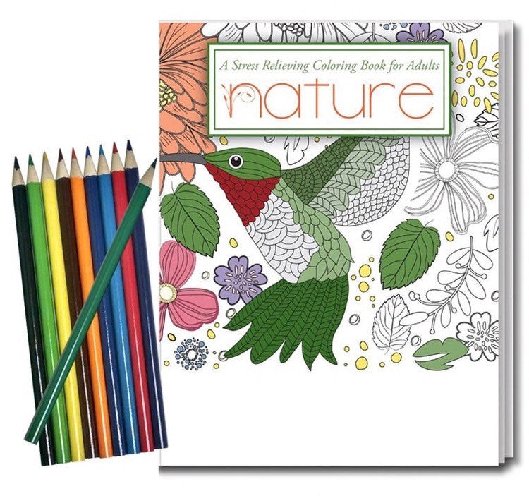 Coloring Book for Adults with Colored Pencils
