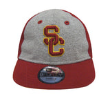 USC Trojans Elastic Strap Toddler New Era Heather Tot Cap Hat Burgundy Grey
