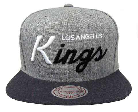 Los Angeles Kings Snapback Mitchell & Ness Tri Pop Special Script Hat Cap