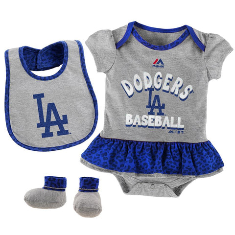 Los Angeles Dodgers Infant New Born (0/3-24 Months) Sweet Girls Creeper 3-Piece Set