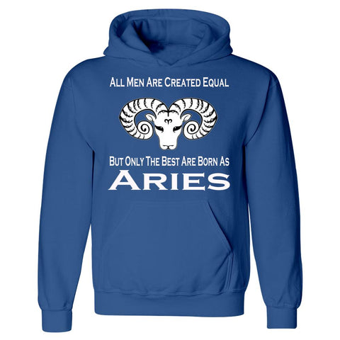 All Men Created Equal But Only The Best Are Born As Aries - Hoodie