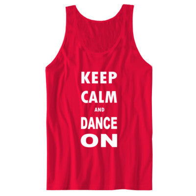 Keep Calm And Dance On - Unisex Jersey Tank - Cool Jerseys - 1