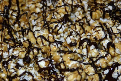 Butter Toffee Popcorn w/Dark Chocolate Drizzle