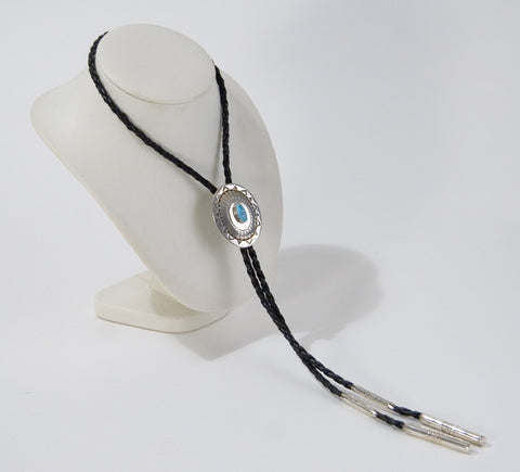 Bolo with Silver Silver & Turquoise Slider
