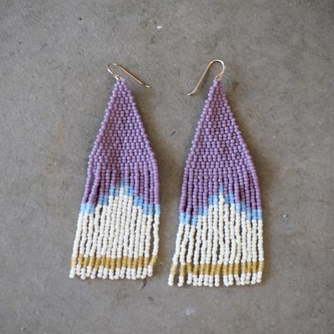 Weave Gold | Lavender & Honey Earrings