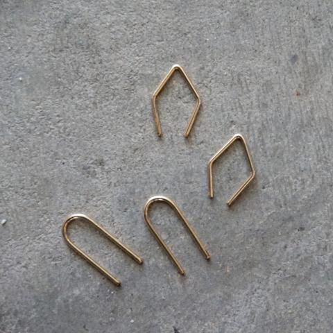 Fade Into the Abstract | Threader Hoop Earrings