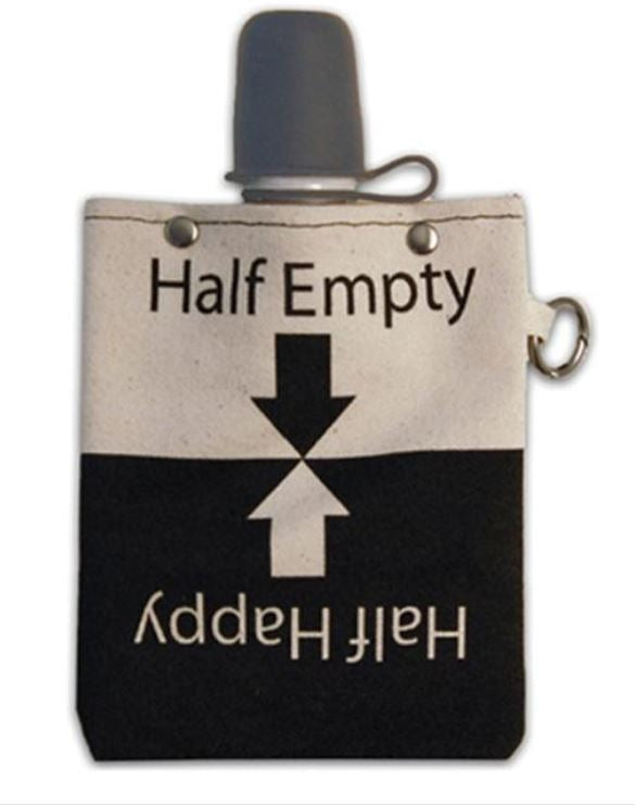 Half Empty - Canvas Flask 240ml