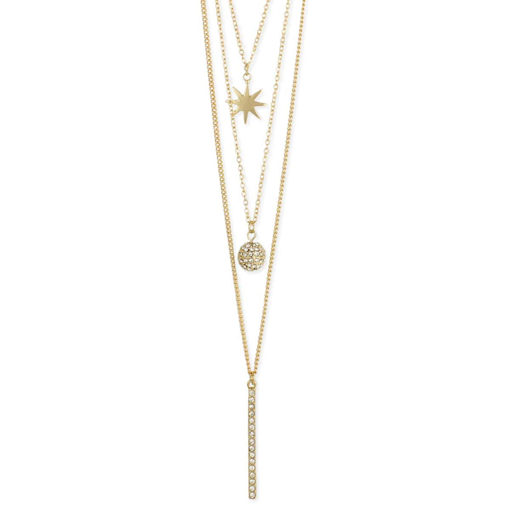 Celestial Layers Gold Necklace