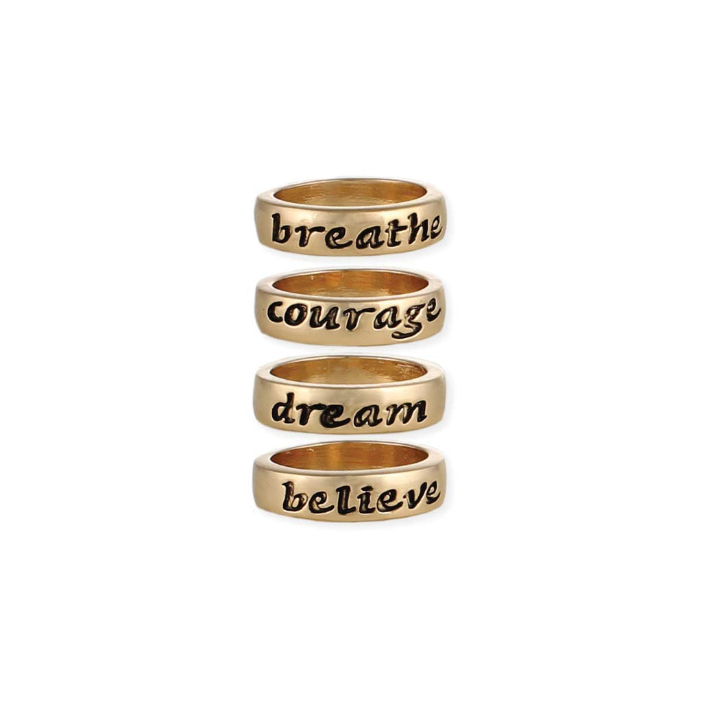 Gold Inspiration Word Ring