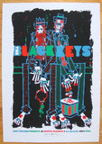 2008 The Black Keys - Portland Concert Poster by Guy Burwell