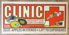 2002 Clinic - Atlanta Silkscreen Concert Poster by Jeral Tidwell & Jeff Wood