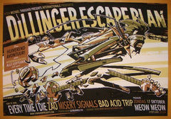 2004 Dillinger Escape Plan - Portland II Poster by Guy Burwell