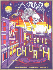 2019 Eric Church - Nashville I Silkscreen Concert Poster by Jim Mazza