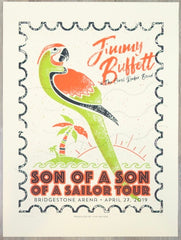 2019 Jimmy Buffett - Nashville Silkscreen Concert Poster by Andy Vastagh