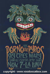 1996 Porno For Pyros Silkscreen Concert Poster by Gary Houston