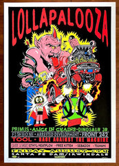 1993 Lollapalooza - Irwindale Silkscreen Concert Poster by TAZ