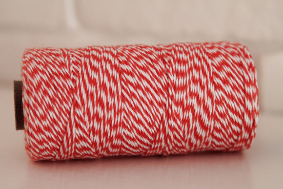 Twinery Striped Mandarin Cotton Twine for Crafts, Scrapbooks and Packaging