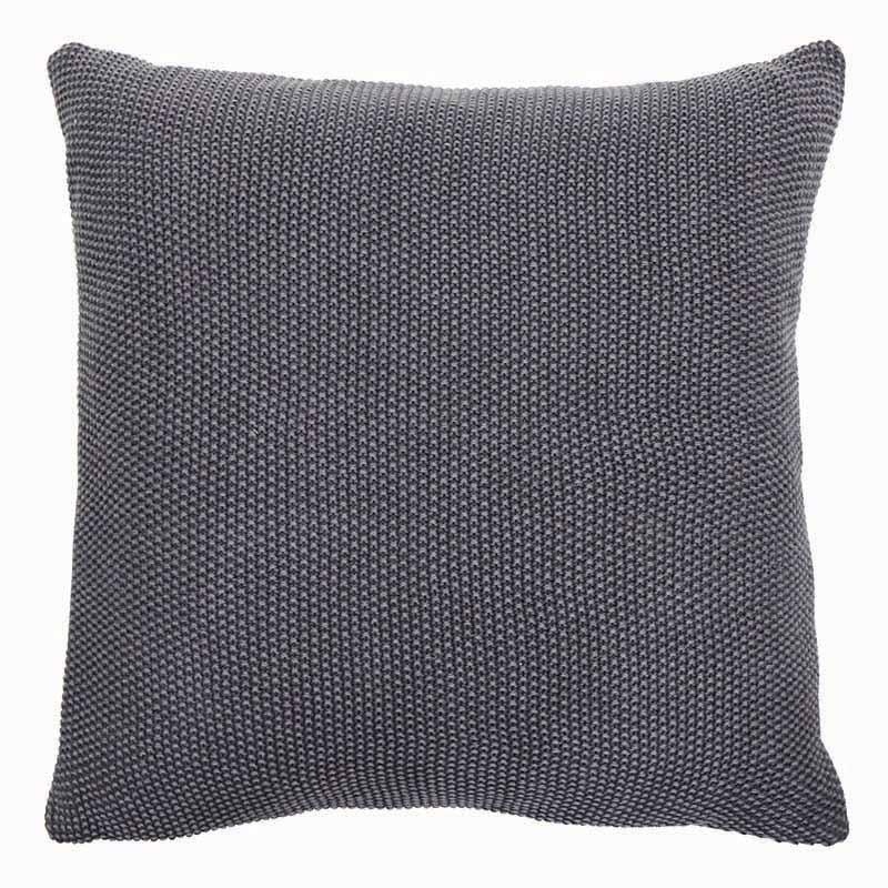 Country Style Parker Dark Grey Knitted Cushion 50cm