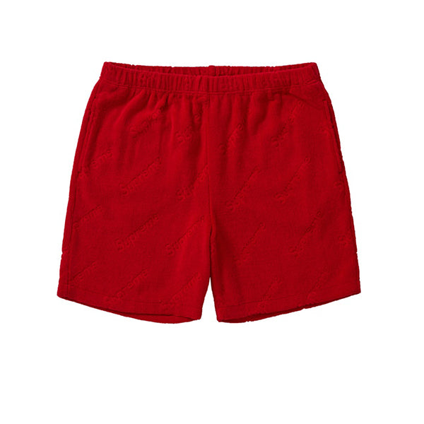 SUPREME TERRY JACQUARD LOGO SHORT RED SS19