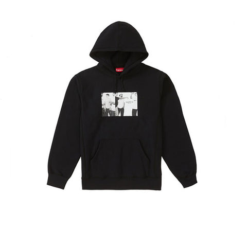 SUPREME CLASSIC AD HOODED SWEATSHIRT BLACK SS19