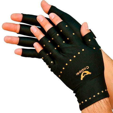 All Deals - Copper Infused Arthritis Compression Therapy Gloves - 2 Sizes Available