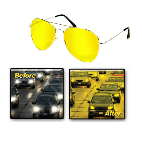 Smart Driver Aviator Style Night Vision Glasses