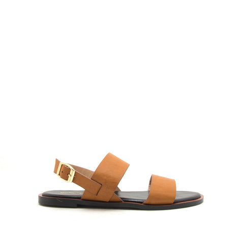 Electric-04 Camel Two Band Slingback Sandals