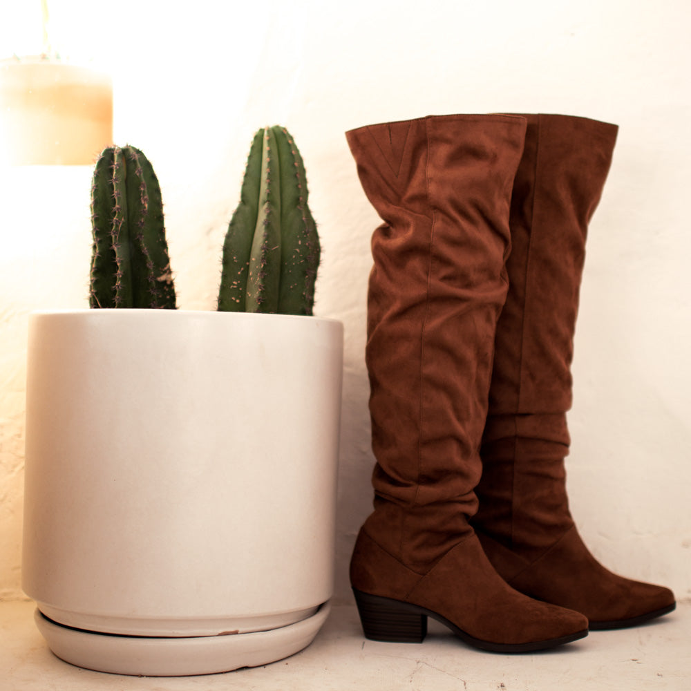 Montana-24 Camel Slouchy Over The Knee Boot