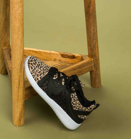 Nacara-13 Camel Leopard Lace Up Sneaker