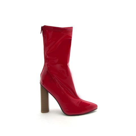 Parma-01X Red Patent Bootie