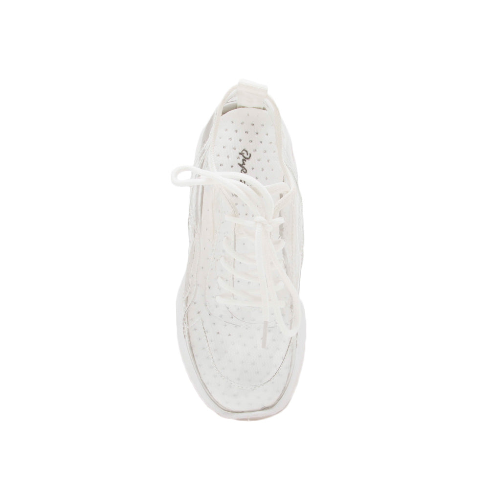 Terrace-07A Clear Lace Up Sneakers