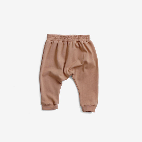Organic Jersey Harem Pant - Toasted Almond