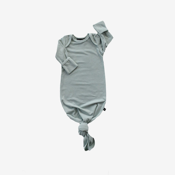 Bamboo Baby Sleeper Gown - Mist Green