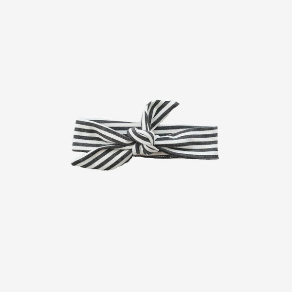 Bamboo Knotted Headband - Charcoal Stripe