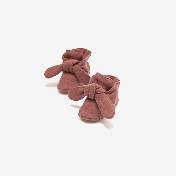 Organic Knotted Booties - Dusty Cedar